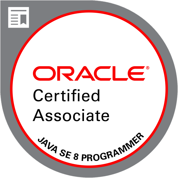 Abzeichen Oracle Certified Associate, Java SE 8 Programmer
